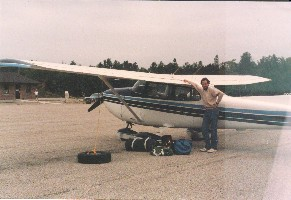 Ken Hill with CFVR at Tobermory Airport